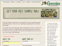 Free Greenies sample for Cats