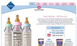 Free Sample Member's Mark® Infant Formulas