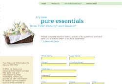 Free Tide, Downy & Bounce Pure Essentials Samples