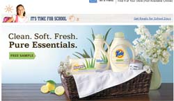 Free Samples Tide, Downy, and Bounce Pure Essentials