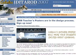 Free 2008 Iditorod Poster for Teachers Only