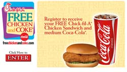 Free Chick Fil A and a Coke