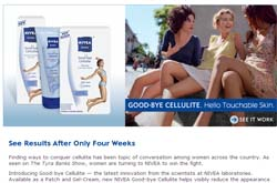 Free NIVEA Good-bye Cellulite Patch