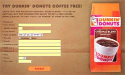 Dunkin' Donuts Original Blend Coffee Sample