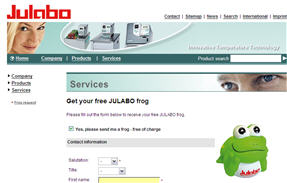 Free Julabo Frog Toy - Business Only