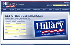 Free Hillary Clinton for President Bumper Sticker