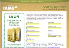 Free Iams Healthy Naturals Dogfood Coupon