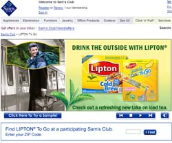 Free Lipton Tea To Go Sample for Sam's Club Members