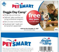 Petsmart FREE pass for Doggie Day Care