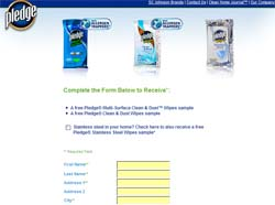 Free Sample of Pledge Clean & Dust Wipes