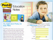 Free POST-IT Education Super Sticky Notes for Kids