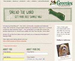 Free Greenies Smart Biscuit for Dogs