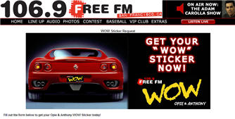 106.9 FM-Wow Sticker