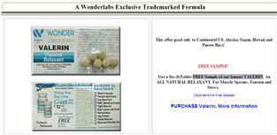 Free Sample of Valerin Relaxation Muscle Spasms & Tension