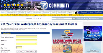 Free Waterproof Emergency Document Holder California Residents Only