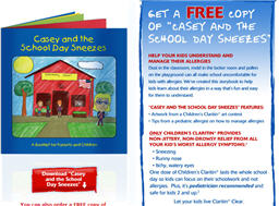 Free Copy of Claritin Casey's Allergies Books