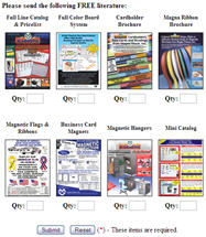 Free Sample Magnets and Brochures