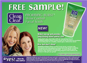 Free Clean and Clear Morning Burst Facial Scrub