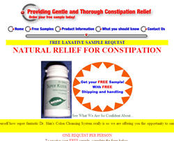 Free Sample from The Constipation Foundation