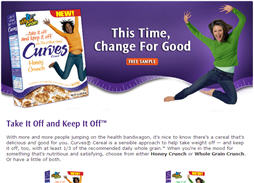 Free sample of Curves Cereal