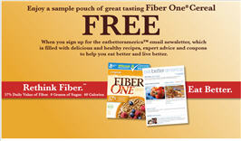 Sample Pouch of Fiber One Cereal
