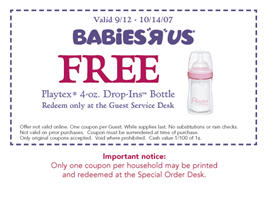 Free Playtex 4 oz. Drop-Ins Bottle at Babies