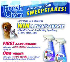 24 oz. Fresh n Clean Deodorizing Upholstery &#038; Fabric Refresher First 2,500