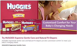 Free Huggies Supreme Diapers Sample