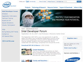 Free One Day Pass to Intel Developer Forum Sept 18th San Francisco