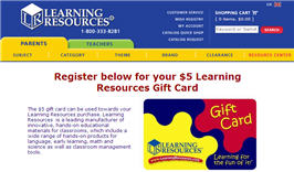 $5 Learning Resources Gift Card