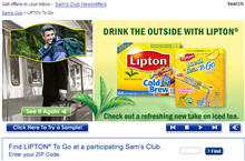 Free Lipton to Go Sam's Club Members Only