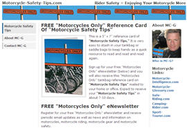 Motorcycle Safety Tips 5x7 Reference Card