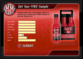 Free Marvel Mystery Oil Sample