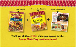 Free Old El Paso Taco Seasoning and Recipe book
