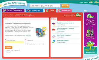 Free Potty Training Guide from Pampers