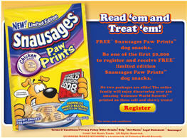 Free Snausages Paw Prints Dog Snacks