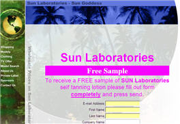 Free Sample of SUN Laboratories Self Tanning Lotion