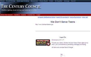 Free We Don't Serve Teens Pin & Stickers
