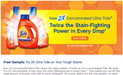 Free 2X Ultra Tide Sample