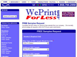 Free Samples from We Print For Less