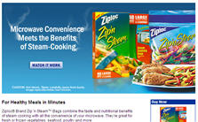 Ziploc Zip 'N Steam Bags Sample Sam's Club Member Only