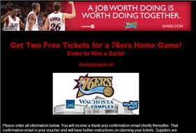 2 free 76ers Tickets 10/12 & 10/14 Games. Must pick up.