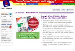 Free Avery Wizard Holiday Edition for Microsoft Office