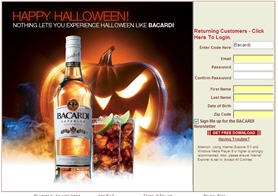 Free Halloween Music Downloads from Bacardi
