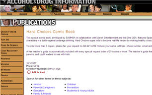 "Free Comic Book ""Hard Choices� - Features Spider-Man and the Fantastic Four Characters"