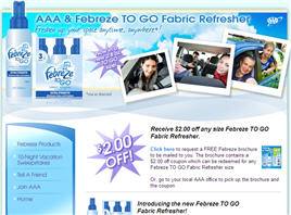 Febreze TO GO Fabric Refresher $2.00 off coupon