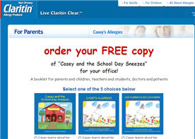 Free copy of Casey and the School Day Sneezes book