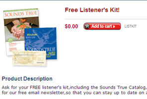 Free Listener's Kit from Sounds True Meditation