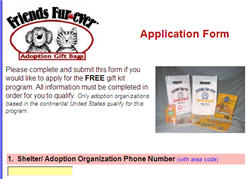 Free Friends Fur-Ever Adoption Gift Bags