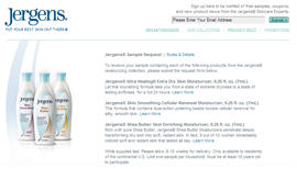 Free Jergens Moisturizing Collection Samples